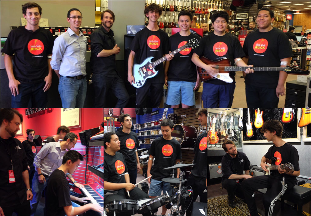 guitar center and little kids rock work together to replace instruments stolen from local. Black Bedroom Furniture Sets. Home Design Ideas