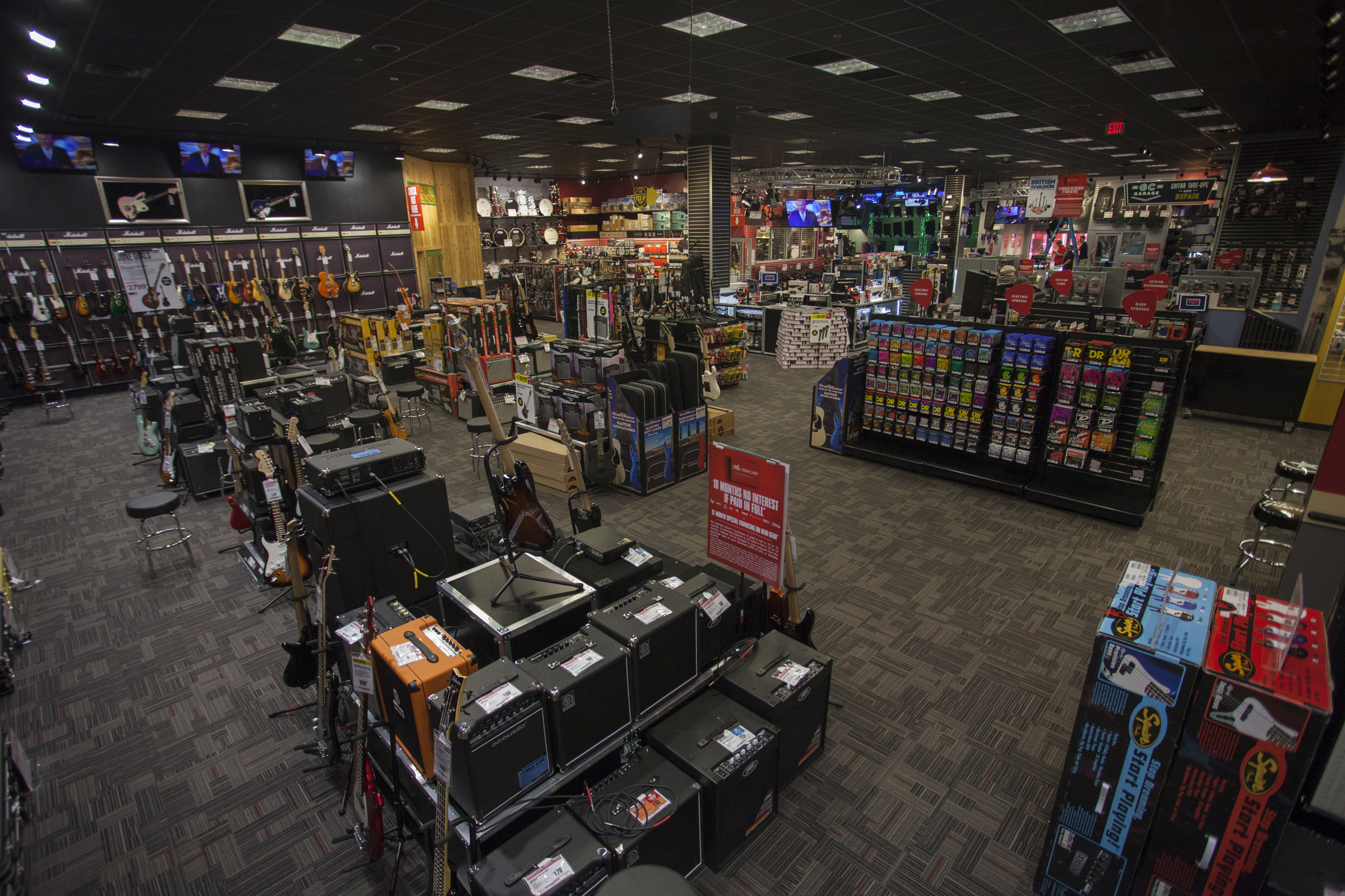 Photo Caption 2 The Showroom Of Guitar Center S New Location In The Orange Park District Of Jacksonville Florida